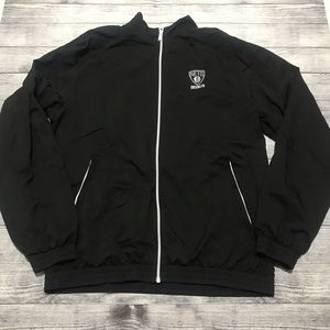 Adidas Black Brooklyn Nets Full Zip Jacket…